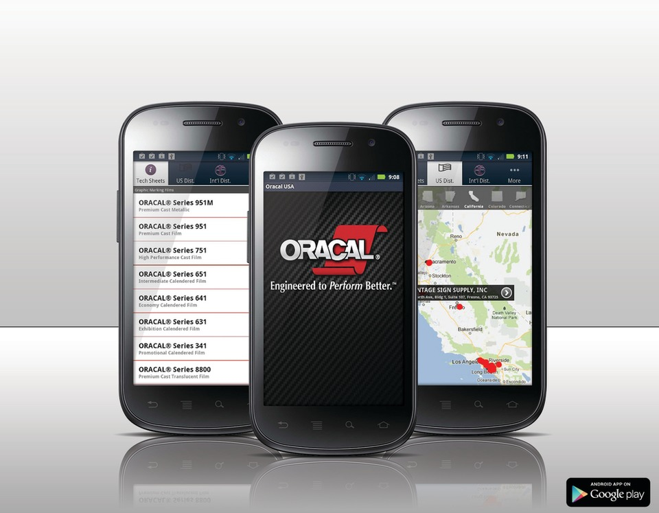 Orafol Americas Inc  ORACAL Android App in Software & Workflow