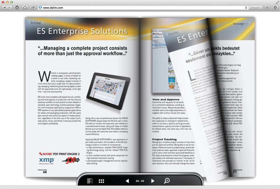 DALIM SOFTWARE Features the Most Recent Developments in the