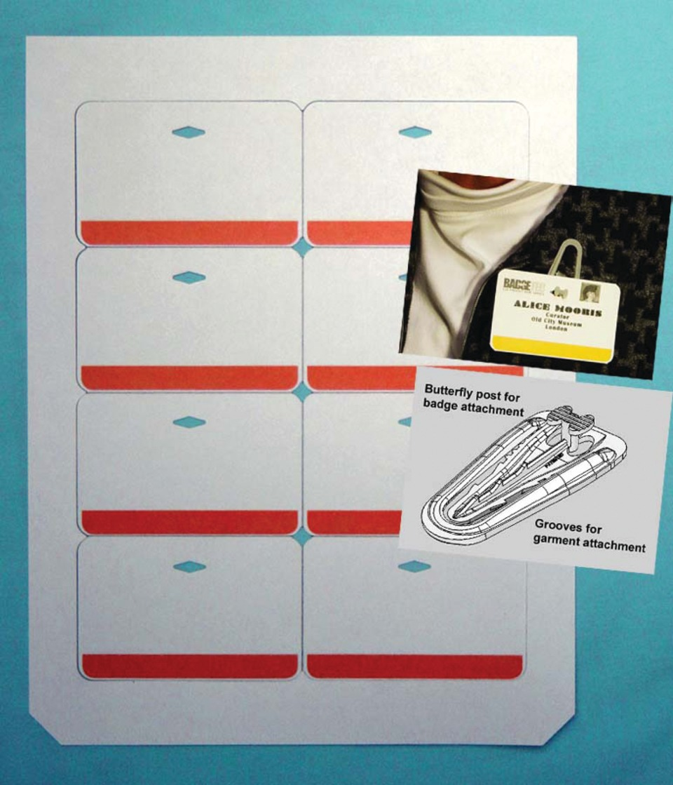 Badgetec Name Badges from Diecut Sheets in Consumables & Supplies