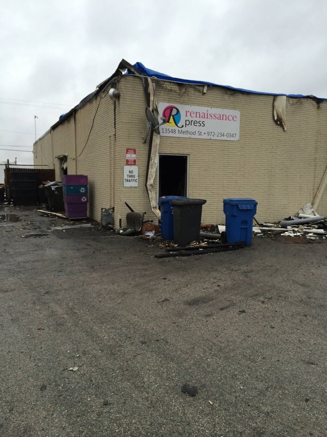 Fire Cannot Devastate Texas Printing Firm