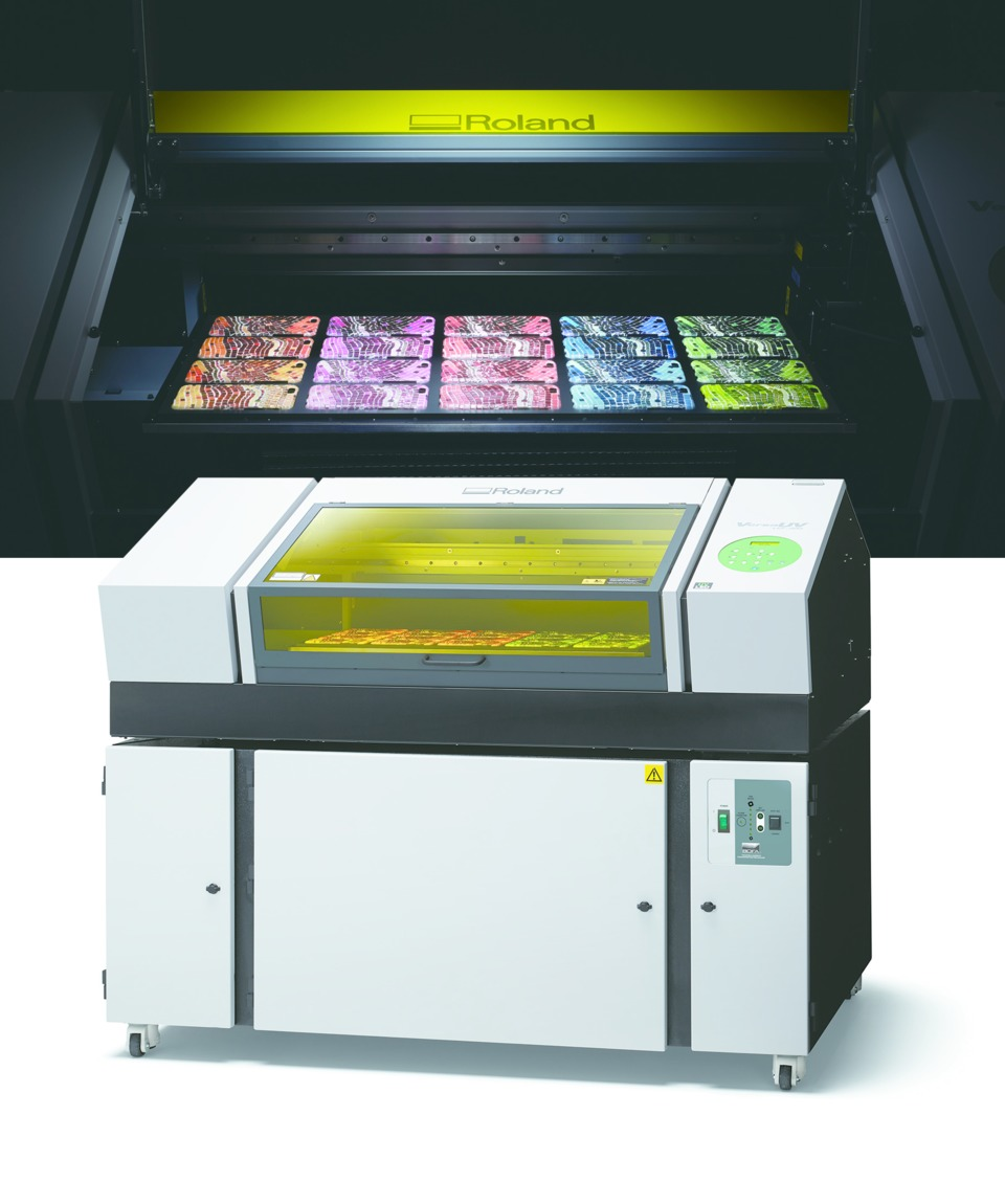Roland DGA Corp  VersaUV LEF-300 UV Flatbed Printer in