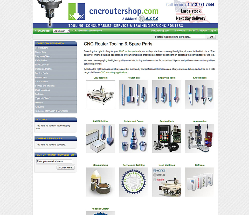 Looking for Choice and Convenience? Check out CNCRoutershop