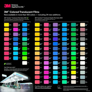 3m Commercial Graphics Envision Translucent Film Series