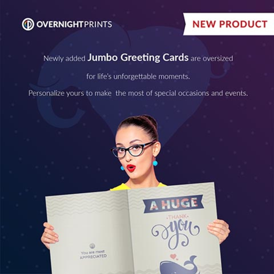 Overnightprints Overnightprints Personalized Jumbo Greeting