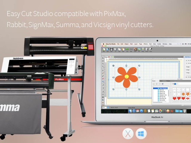 Easy Vinyl Cutter Software now compatible with Summa, PixMax Rabbit